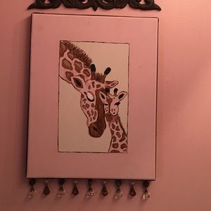 Canvas with giraffe